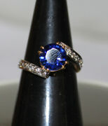 Christmas 0.23ct Natural Round Diamond Sapphire 14k Solid Yellow Gold Ring