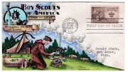 995 Boy Scouts 40th Anniversary - Dorothy Knapp Hand Painted Cachet 1950 Fdc