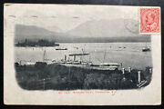 1906 Vancouver Canada Rppc Postcard Cover To Palmerston New Zealand Burrard Inle
