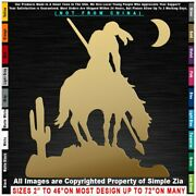 - Native American End Of The Trail Cactus Moon Indian Warrior Decal Sticker