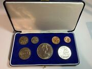 Original 1969 New Zealand Commemorative 7 Coin Set-centenary Of James Cook T25
