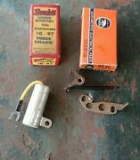 Ignition Contact Points Condenser 41 42 Ford 4 Cyl Nib Vintage Pickup Truck