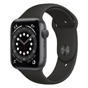 Apple Watch Series 6 Gps 44mm With Black Sport Band - Space Gray M00h3ll/a