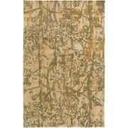Surya Zph-3001 Zephyr Area Rug 8and039 X 10and039 Dark Green/tan