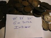 1 Roll 50 Coins Mixed Indian Head Cents Only 1881,83,84