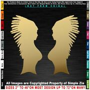 - Native American Two Women In Headdresses Sexy Girls Sticker Decal