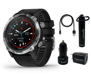Garmin Descent Mk2 Watch-style Dive Computer With Power Bank And Chargers Bundle
