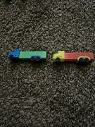 Vintage Pez Dispensers Semi Trucks No Feet Made In Slovenia Green And Blue