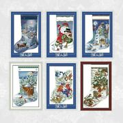 Counted Cross Stitch Pattern 11ct 14ct Diy Christmas Stockings Embroidery Kits
