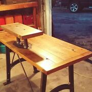 Vintage Antique Industrial Soda Fountain Table Recreated To Workstation Desk