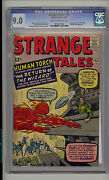 Strange Tales 105 Cgc 9.0 Vf/nm Marvel Fantastic Four 2nd Wizard Cr/ow Pages