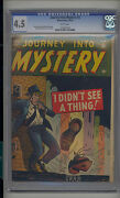 Journey Into Mystery 3 Cgc 4.5 Vg+ Atlas Marvel Classic Cover Scarce White Pgs