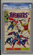 Avengers 58 Cgc 9.6 Nm+ Unrestored Marvel Origin And 2nd Vision Off-white Pages