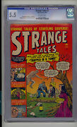 Strange Tales 2 Cgc 5.5 Fn- Atlas Marvel Classic Cover Scarce Ow Pages