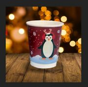 Christmas Paper Coffee Cups - Festive Double Walled Takeaway Cups | 8oz Or 12oz