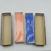 Vintage New Box Hand Dipped Candles By Lenox Tiny Tapers Hot Pink Blueberry Lot