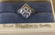 Antique Sterling Silver Vintage Handcrafted Silver Ring Estate Find Rogers Box