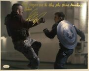 Autographed Georges St Pierre Signed 11x14 Jsa Marvel Captain American Inscribed
