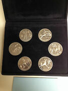 2 Rare Sets 1992 Barcelona Olympics 6 Russian Coins And 1991 Ussr Asstd 10 Coins