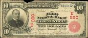 Cooperstown New York 10 Red Seal Fnb National Currency Baseball Hall Fame Ny