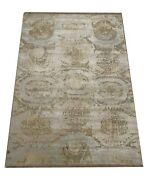 8x10 Oxidized Modern Rug Hand-knotted Wool And Silk Contemporary 8and039 X 9and0396