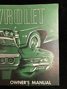 First Edition 1968 Chevrolet Factory Original Owners Manual Printed August 1967