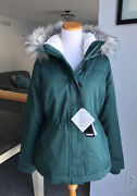 Nwt Hollister By Abercrombie And Fitch Women Anorak Hunter Green Jacket Sizem