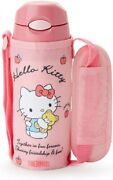 Sanrio Hello Kitty Thermos Straw Bottle With Cover 400ml