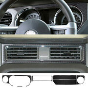 Carbon Fiber Interior Dashboard Decal Cover Trim Fit For Ford Mustang 2009-2013