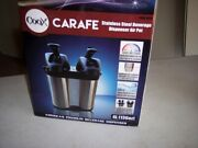 Coox 4l Double Twin 2 In 1 Air Pot Thermal Beverage Dispenser For Hot And Cold
