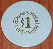 1 14th Edition Poker Room Gaming Chip From The Dunes Casino Las Vegas