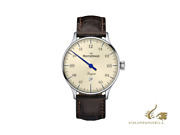 Meistersinger Pangaea Date Automatic Watch 40 Mm Ivory Leather Pmd903