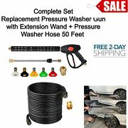 Pressure Washer Gun With Extension Wand And Pressure Washer Hose W Nozzle Tips