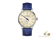 Meistersinger Pangaea Date Automatic Watch 40 Mm White Leather Pmd903-sg04