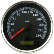 5 Programmable Electronic Speedometer Black Km/h Harley Flhr Softail Dyna 04-13
