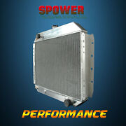 Spawon 3rows 62mm At/mt 833 Aluminum Radiator For 66-79 Ford Truck Chevy Engine