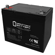Mighty Max 12v 75ah Sla Battery Replacement For John Deere 4500 Tractor