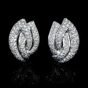 Christmas 1.25ct Natural Round Diamond 14k Solid White Gold Stud Earring