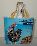 Large Recycled Horse Feed Bag, Shopping Bag, Sturdy Bag With Plastic Bottom