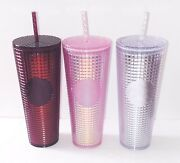 Starbucks 2020 Holiday Lot Of 3 Grid Disco Cold Cup Christmas Cold Cup Tumbler