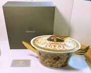 Versace Barocco By Rosenthal Oval Vegetable Covered Casserole Mint In Box