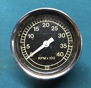 Used Ford D0hf-17360-d Heavy Duty Cable Drive Tach Tachometer Stewart Warner