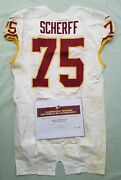 75 Brandon Scherff Of Redskins Nfl Game Used And Unwashed Jersey Vs Bears Wcoa