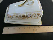 Noritake 16034/175 Gold And White / Christmas Ball Wedge Cheese Server And Lid
