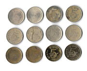 Sri Lanka Collection Of 12 Coins 5 Rupees 1984-2011 All Different. B11