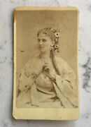 Antique Cdv Photograph State Actress Sarony Adelaide Nielson