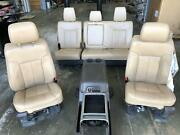 11-16 Ford F250sd F350sd Tan Front Seat Bucket 40/40 Leather Eletric Power