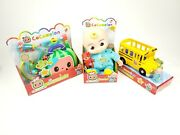 Cocomelon Bundle Jj Doll Doctor Checkup And Wheels On The Bus Set Lot New