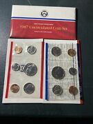 1987 United States Us Mint Uncirculated Coin Set