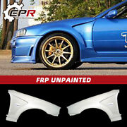 For Nissan Skyline R34 Gtr Do-style Frp Unpainted Vented Front Fender Guard 2pcs
